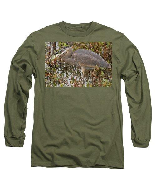 Hungry Heron Long Sleeve T-Shirt