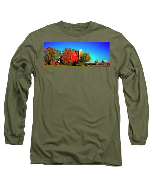 Huntley Road Barn Early Morning Long Sleeve T-Shirt