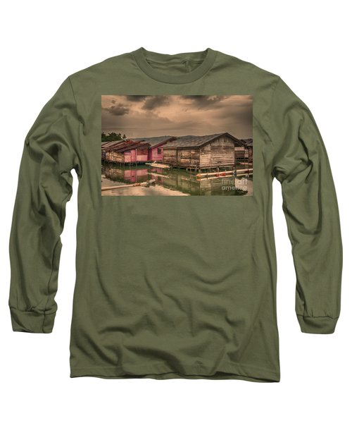 Long Sleeve T-Shirt featuring the photograph Huts In South Sulawesi by Charuhas Images
