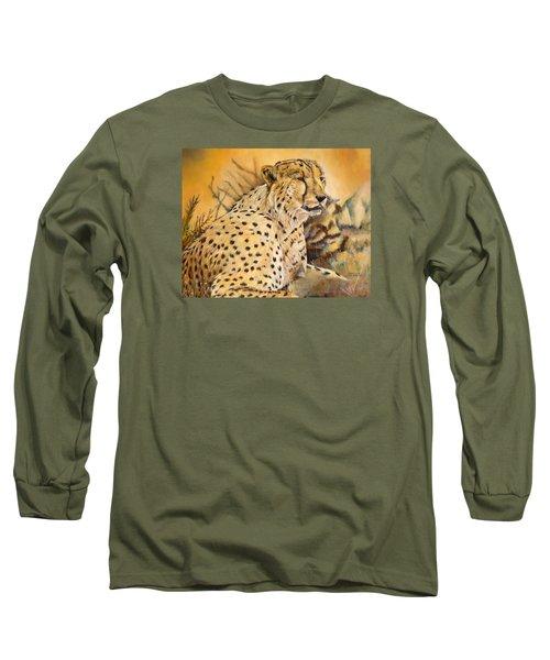 I Am Cheetah Long Sleeve T-Shirt by Marilyn  McNish