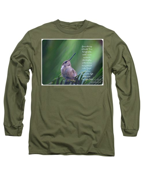 Long Sleeve T-Shirt featuring the photograph I Am The Light Of The World by Debby Pueschel