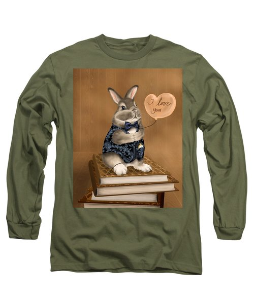 Long Sleeve T-Shirt featuring the painting I Love You by Veronica Minozzi