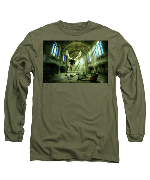 Long Sleeve T-Shirt featuring the digital art I Want To Brake Free by Nathan Wright