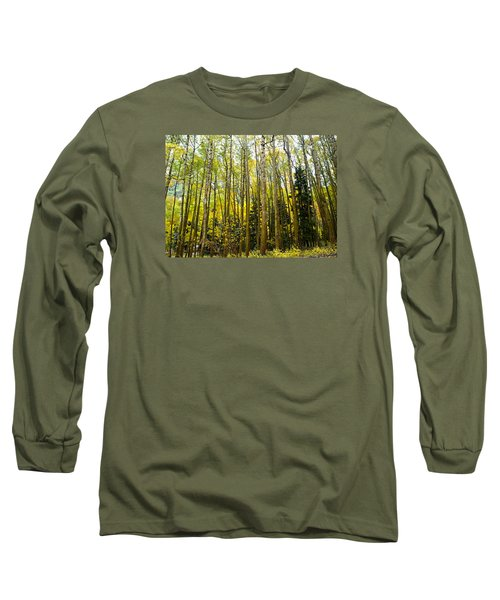 Long Sleeve T-Shirt featuring the photograph Iconic Colorado Aspens by Laura Ragland