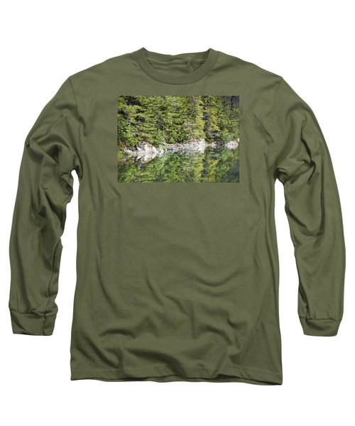 Icy Lake Reflections Long Sleeve T-Shirt