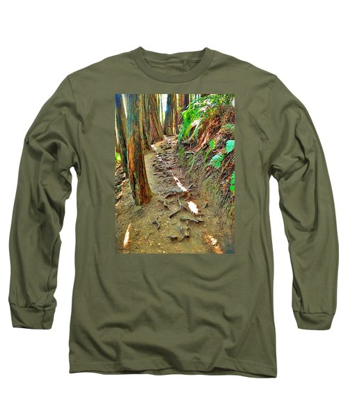 Long Sleeve T-Shirt featuring the photograph I'd Rather Be Hiking by Kathy Kelly