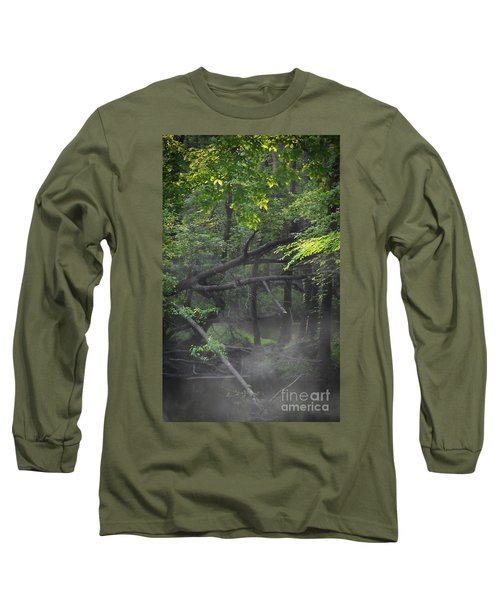 Long Sleeve T-Shirt featuring the photograph If A Tree Falls In The Woods by Skip Willits
