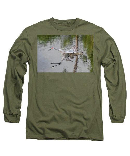 Ike The Crane's Grouchy Day Long Sleeve T-Shirt