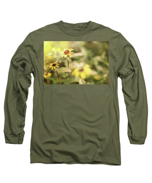 Illuminated Zinnia Long Sleeve T-Shirt by AugenWerk Susann Serfezi