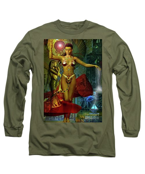 Long Sleeve T-Shirt featuring the digital art Illusions Of Isis by Shadowlea Is
