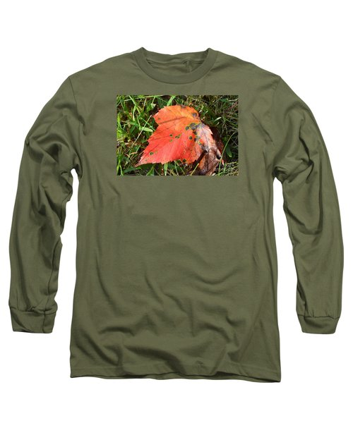 Long Sleeve T-Shirt featuring the photograph I'm Leafing This Place by Lew Davis