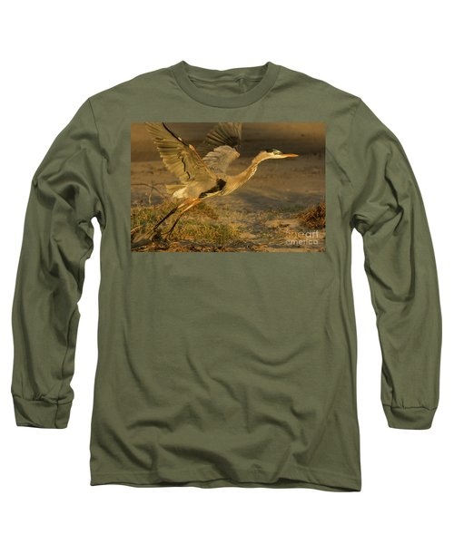 I'm Out Of Here Wildlife Art By Kaylyn Franks Long Sleeve T-Shirt