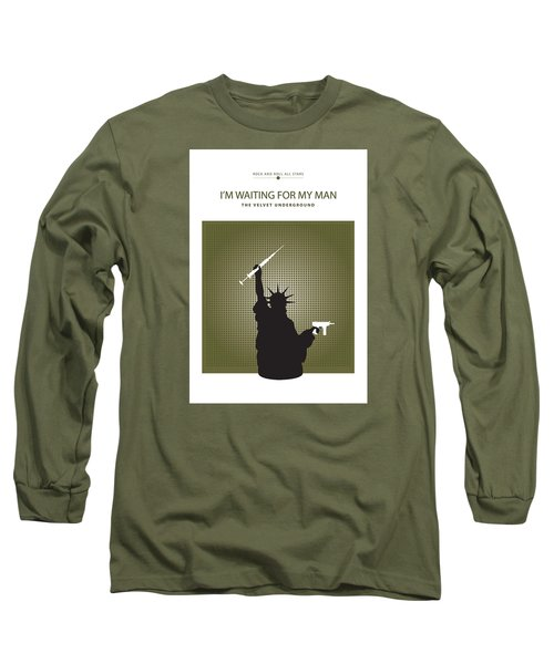 I'm Waiting For My Man -- The Velvet Underground Long Sleeve T-Shirt by David Davies