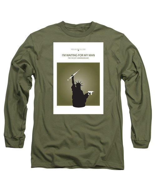 I'm Waiting For My Man -- The Velvet Underground Long Sleeve T-Shirt by David Davies