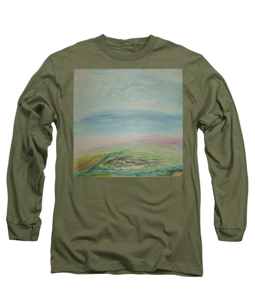 Imagination 7. Landscape. Three Dimensions. View From The Sky. Long Sleeve T-Shirt