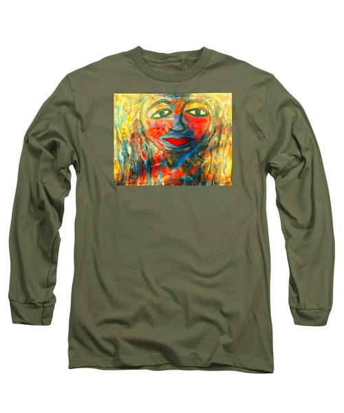 Long Sleeve T-Shirt featuring the painting Imperfect Me by Fania Simon