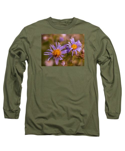 Impressionistic Asters Long Sleeve T-Shirt