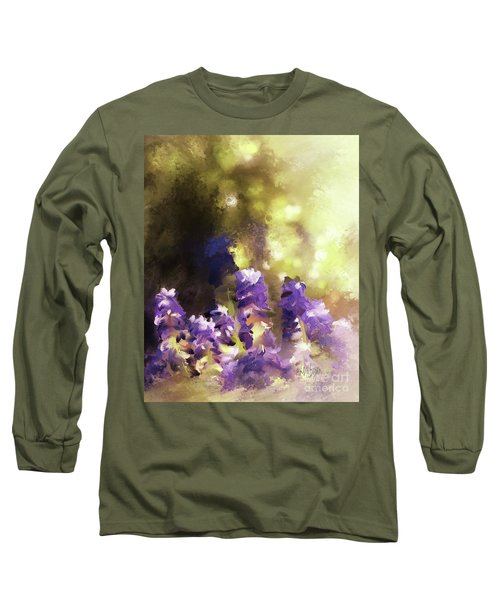 Long Sleeve T-Shirt featuring the digital art Impressions Of Muscari by Lois Bryan