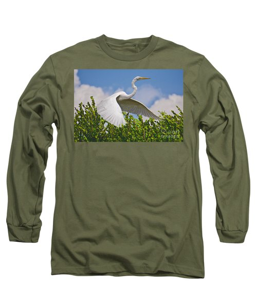In Flight Long Sleeve T-Shirt by Judy Kay