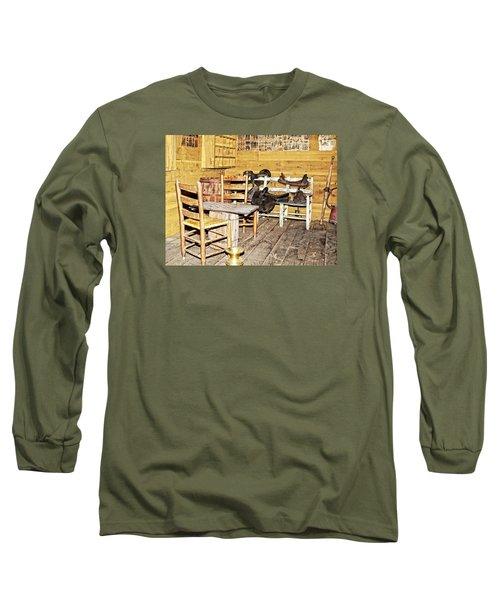 In The Barn Long Sleeve T-Shirt by Susan Leggett