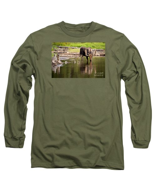 In The Drink Long Sleeve T-Shirt by Aaron Whittemore