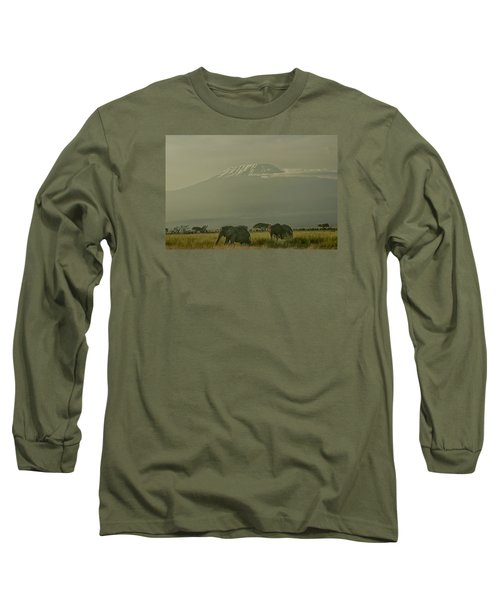 Long Sleeve T-Shirt featuring the photograph In The Shadow Of Kilimanjero by Gary Hall