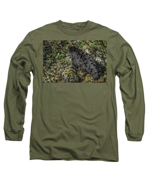 In The Shadows Black Bear Long Sleeve T-Shirt