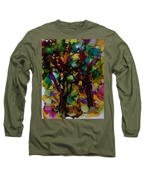 In The Woods Long Sleeve T-Shirt by Alika Kumar