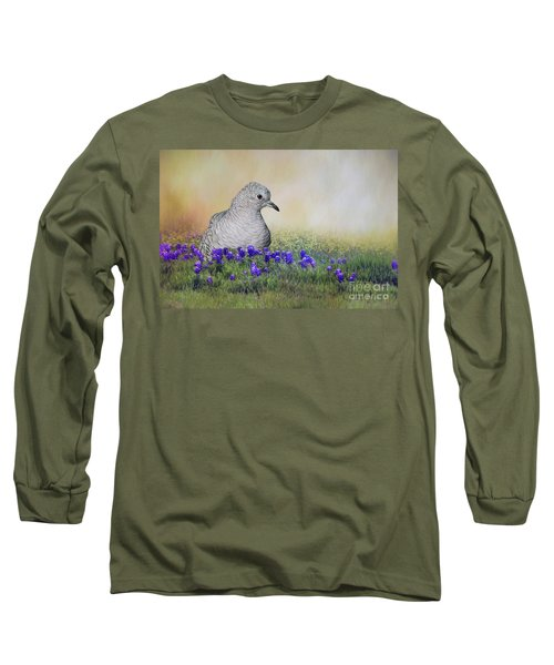 Long Sleeve T-Shirt featuring the photograph Inca Dove  by Bonnie Barry