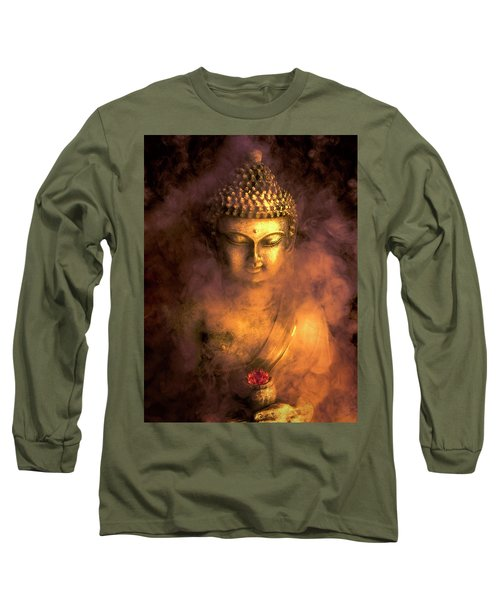 Long Sleeve T-Shirt featuring the photograph Incense Buddha by Daniel Hagerman