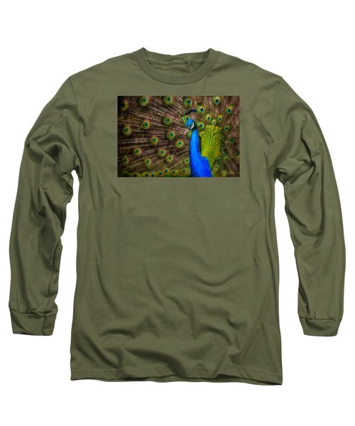 Long Sleeve T-Shirt featuring the photograph India Blue by Rikk Flohr