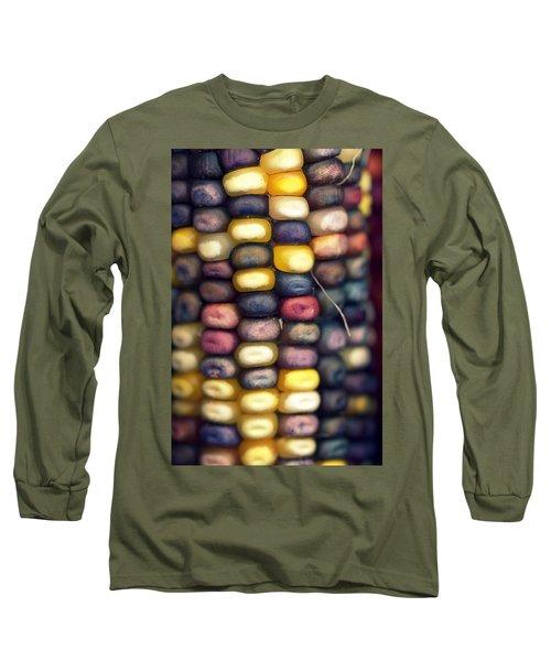 Indian Corn Long Sleeve T-Shirt by Joseph Skompski