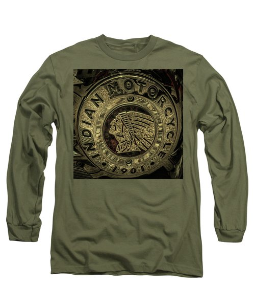 Indian Motorcycle Logo Long Sleeve T-Shirt by David Patterson
