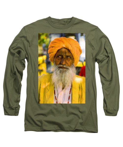 Indian Old Man Long Sleeve T-Shirt