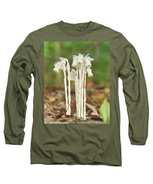 Indian Pipes Long Sleeve T-Shirt by JD Grimes