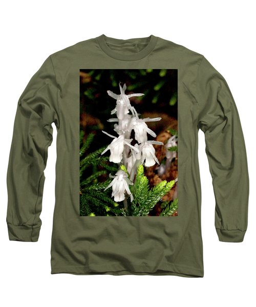 Long Sleeve T-Shirt featuring the photograph Indian Pipes On Club Moss by Meta Gatschenberger