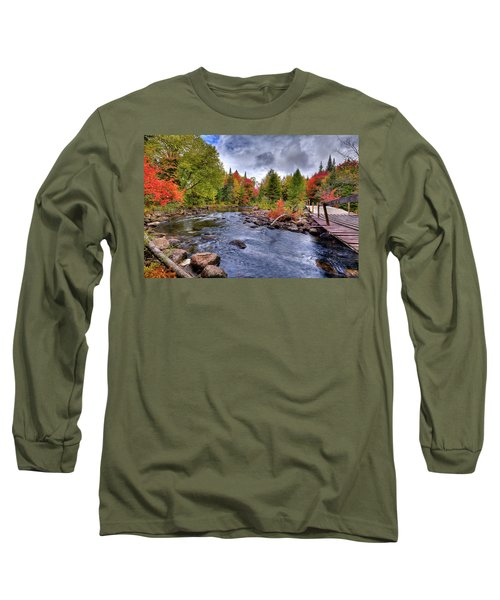 Indian Rapids Footbridge Long Sleeve T-Shirt