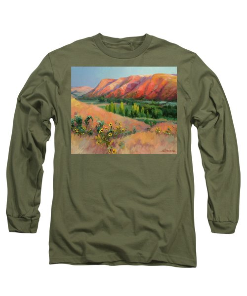 Long Sleeve T-Shirt featuring the painting Indian Hill by Steve Henderson