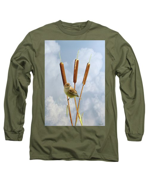 Indigo Bunting Long Sleeve T-Shirt
