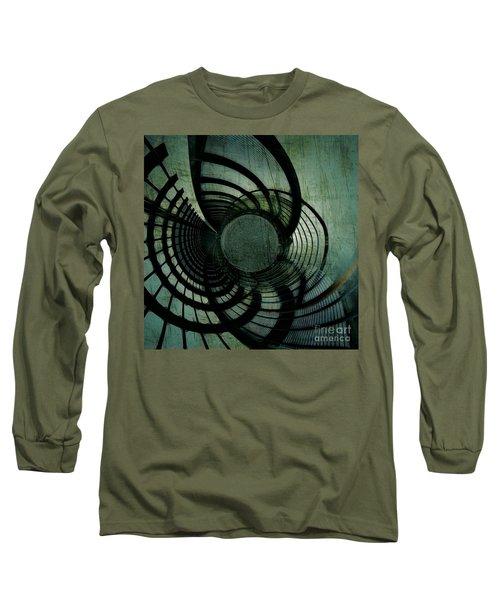 Industrial Overpass Grey Long Sleeve T-Shirt