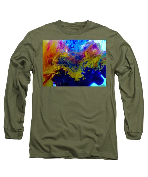 Ink Explosion 9 Long Sleeve T-Shirt by Lilia D