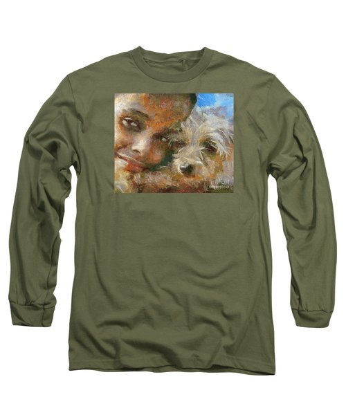Long Sleeve T-Shirt featuring the painting Innocent Love by Dragica  Micki Fortuna