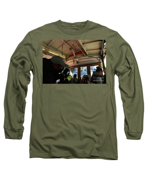Long Sleeve T-Shirt featuring the photograph Inside A Cable Car by Steven Spak