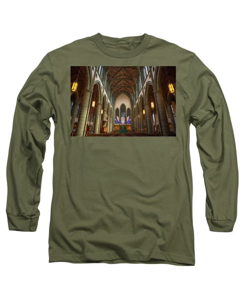 Inside Christchurch Cathedral Long Sleeve T-Shirt by Keith Boone