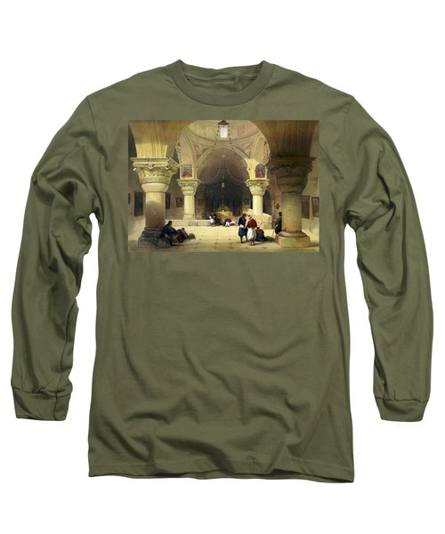 Inside The Church Of The Holy Sepulchre In Jerusalem Long Sleeve T-Shirt