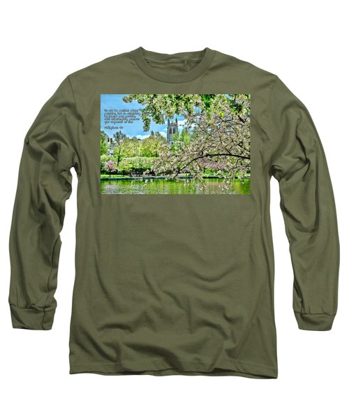 Inspirational - Cherry Blossoms Long Sleeve T-Shirt