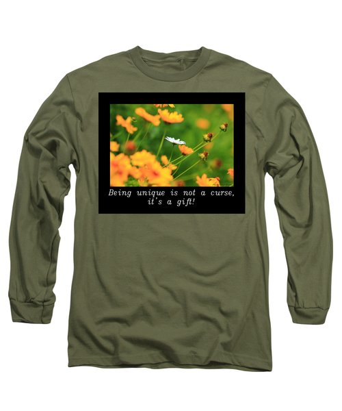 Inspirational-being Unique Is A Gift Long Sleeve T-Shirt