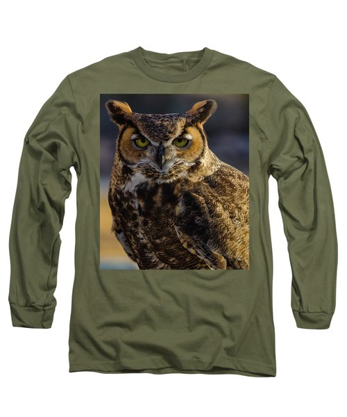 Intense Owl Long Sleeve T-Shirt