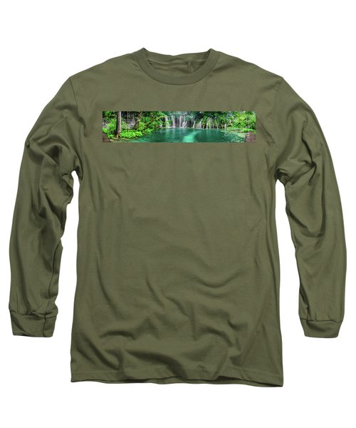 Into The Waterfalls - Plitvice Lakes National Park Croatia Long Sleeve T-Shirt