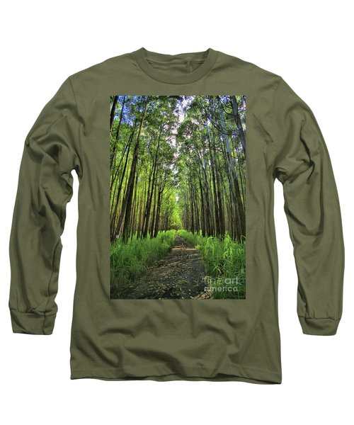 Long Sleeve T-Shirt featuring the photograph Into The Forest by DJ Florek
